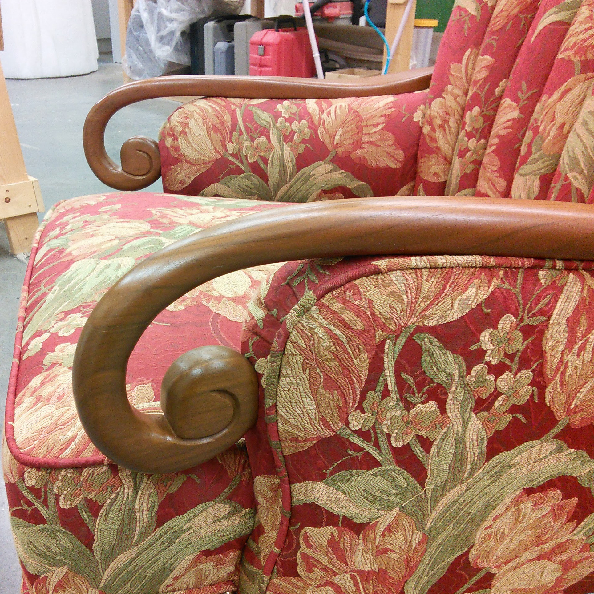 coombs chair arm repair